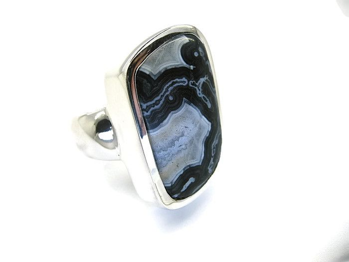 Another Stunning Handmade Ring exclusive by Ixtlan Melbourne Jewellery Store in Gertrude St. Fitzroy Zebra Jasper handmade into a Sterling Silver ring....one of many one off pieces that we are so well known for smile emoticon