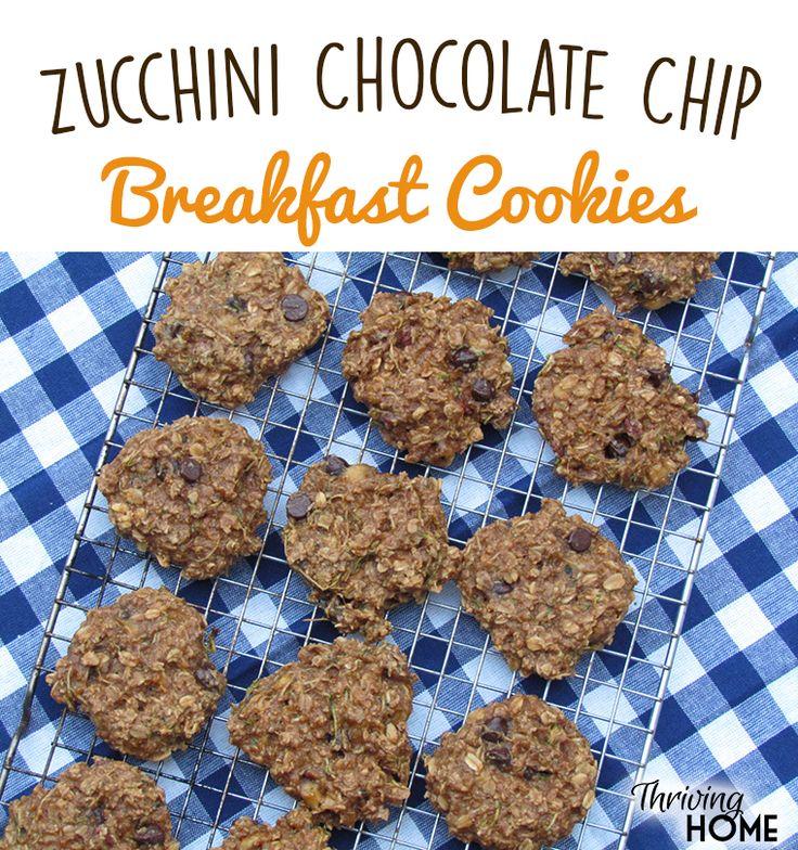 Zucchini Banana Breakfast Cookies - w/1 more banana & honey (not syrup)