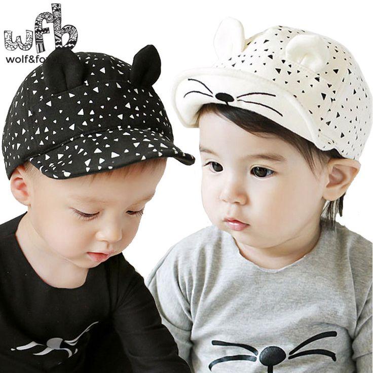 Retail 0-4 tahun 50 CM topi baseball topi cat kepala beanies gorras touca bayi anak bayi anak-anak bebes musim semi jatuh