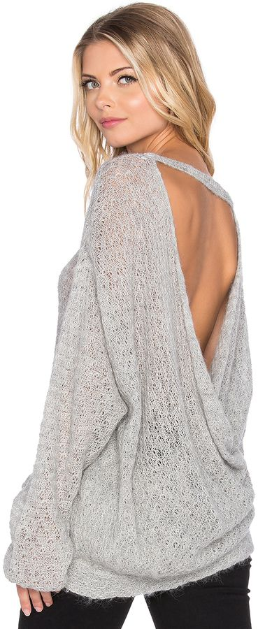 Free People Brandywine Drape Back Sweater