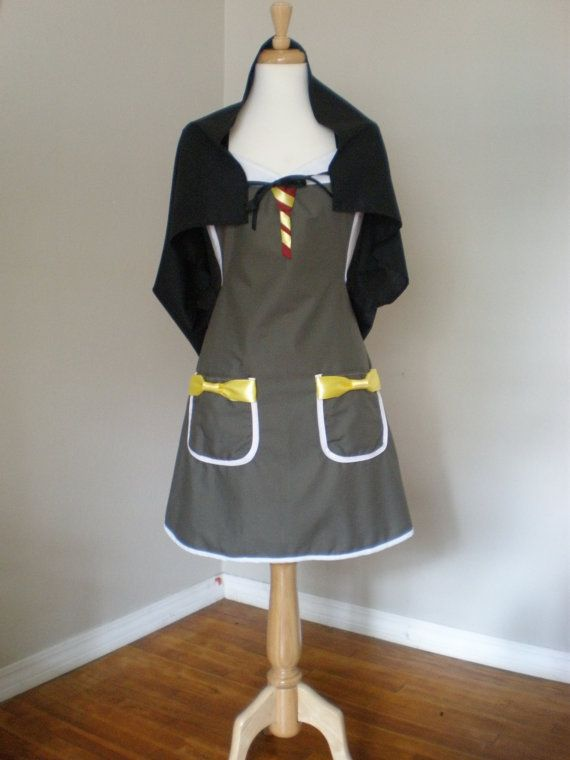 Harry Potter  inspired Costume Apron with cape by HauteMessThreads, $42.00: Inspiration Costumes, Superhero Aprons, Popsugar Tech, Costumes Aprons, Potter Aprons, Capes 42, Harry Potter Costumes, Nerdy Things, 42 00
