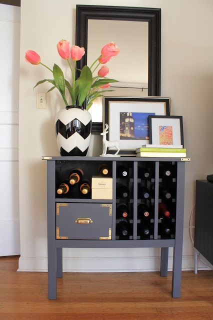 Campaign Inspired Wine Rack