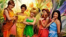 Tinker Bell and her fairy friends at Pixie Hollow