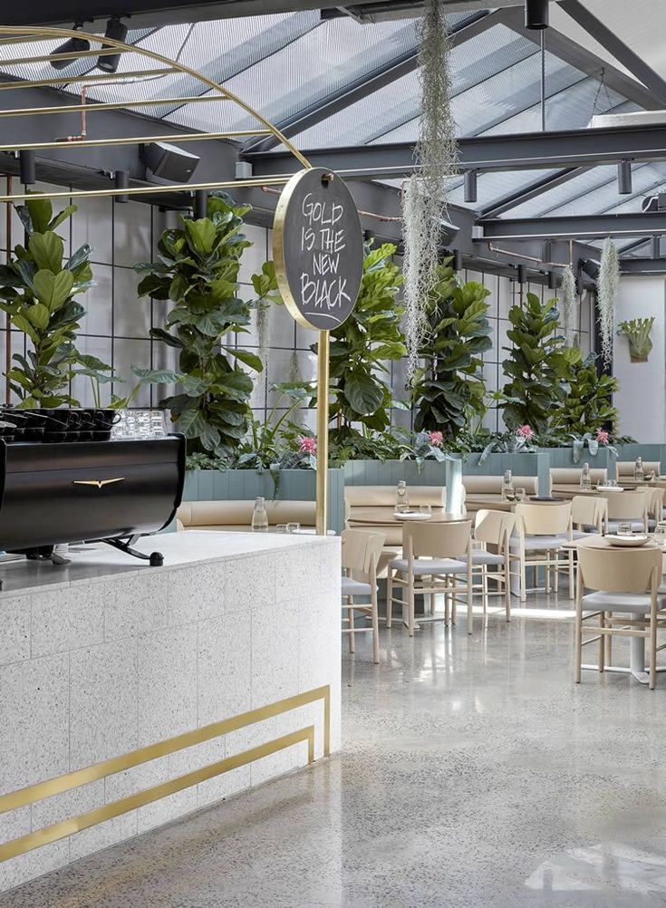 sunroof restaurant design and greenery