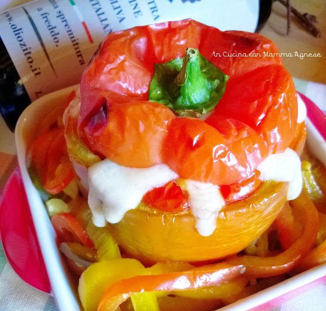 In Cucina con Mamma Agnese: Peperoni Ripieni Riso alle verdure e Formaggio 😍