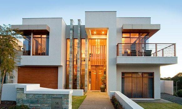 Fachadas de Casas Modernas:  Anteriormente la piedra, ladrillo y madera, eran los materiales básicos en toda construcción. Los materiales usados para la construcción fachadas modernas son mucho más eficientes que los antiguos  de piedra o barro,