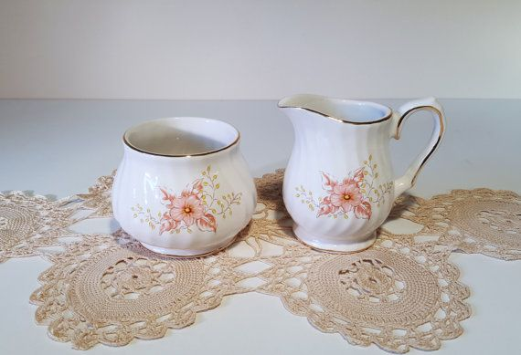 Vintage Cream and Sugar Set made by Sadler with a by RetroEnvy21
