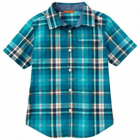 Camisa Gymboree Tidal Blue a cuadros