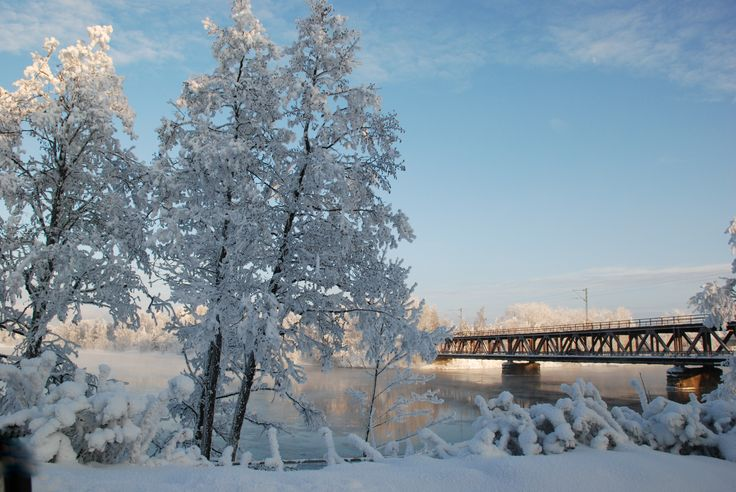 #Imatra, #Finland, winter time, river Vuoksi by Maija S.