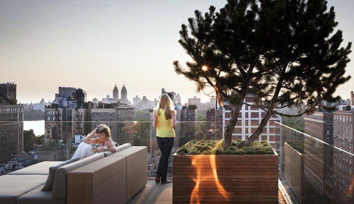 Терраса на крыше - оазис в большом городе