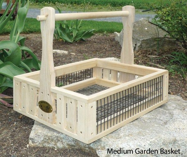A very classy garden basket for a classy gardening perfectionist