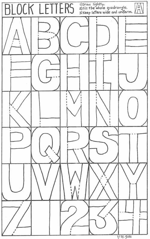 here are some simple block letters you could use for kids painting on t-shirts