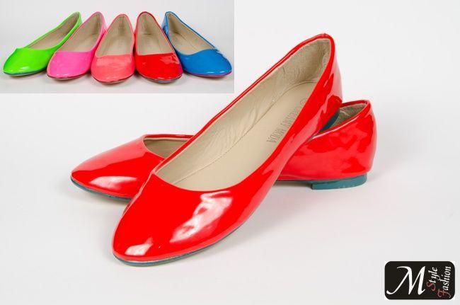 115 NEONOWE kolory balerinki fluo neon RED 39