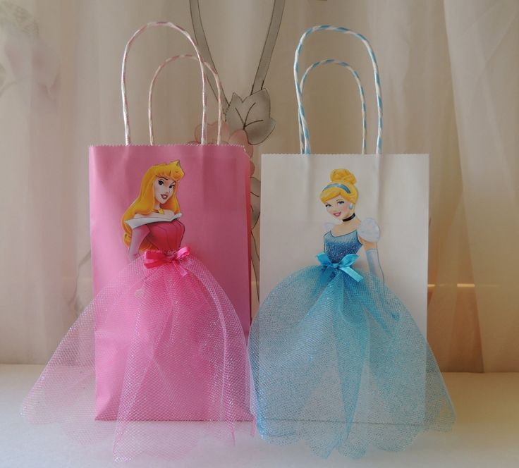 pieces disney princess birthday goody favor glitter tutu bags cinderella belle rapunzel ariel little mermaid aurora