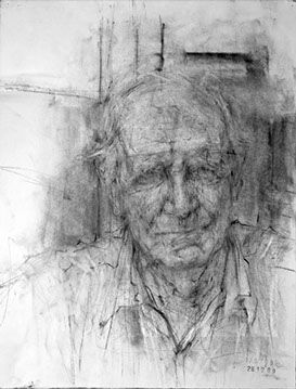 Ginny Grayson | Dad. 2009. Charcoal on paper, 57 x 43 cm