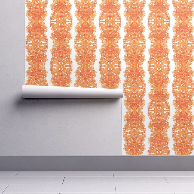 Isobar Durable Wallpaper featuring BROWN HELLENIC SEAWEEDS by joancaronil | Roostery Home Decor