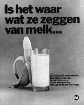 'Is het waar wat ze zeggen van melk...' #Reclame #Advertentie #Melk #Zuivel #Melkunie #1967