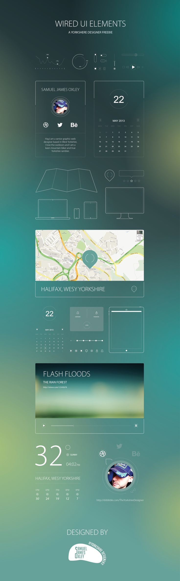 Dribbble - UI_Pack_-_TheYorkshireDesigner.jpg by Samuel James Oxley