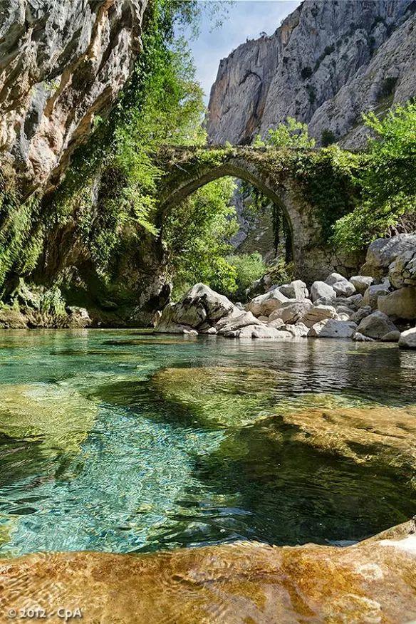 River Cares. Asturias. Spain