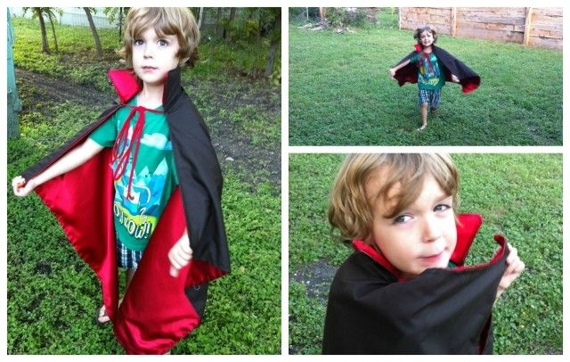 Need to make a last minute costume? This is a quick and super easy cape to make. Perfect for super heros, villains, vampires, witches, etc! Materials: (change the color and material of fabric to fi...