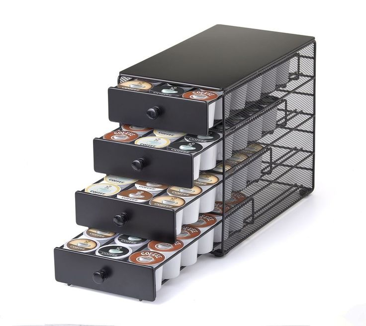 Coffee Pod Holder 72 K Cup Storage Rack Cups 4-tier Drawer Organizer Black New #NIFTY