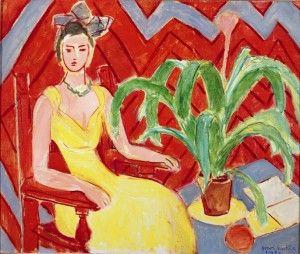 Henri Matisse, Michaella, robe jaune et plante, 1943, Olio su tela, 60 x 72 cm, © Succesion H. Matisse by SIAE 2012