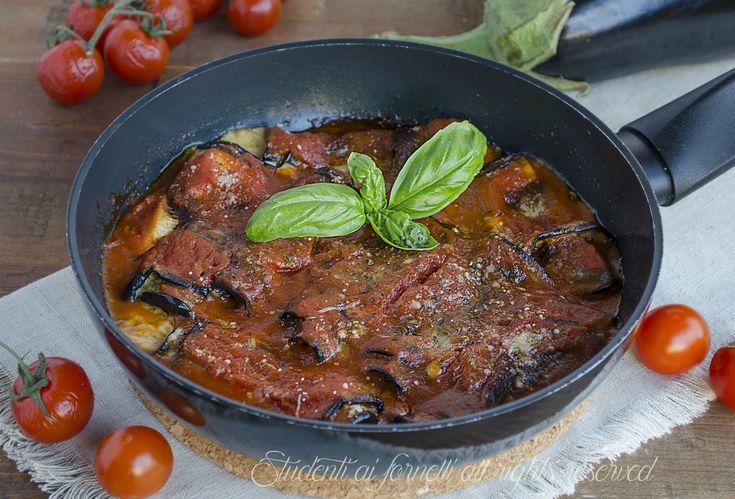 involtini di melanzane al sugo e provola in padella ricetta secondo sfizioso veloce melanzane alla parmigiana