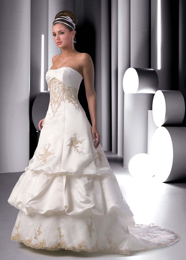 Perfect Style Wedding Gowns DaVinci Bridal Available Colours Ivory Gold Wedding Dress PatternsStrapless