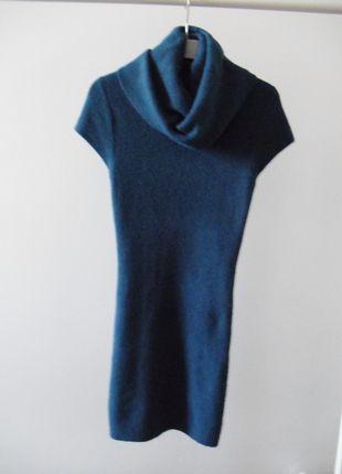 Kup mój przedmiot na #vintedpl http://www.vinted.pl/damska-odziez/krotkie-sukienki/10830128-niebieska-sukienka-dzianinowa-z-golfem-sm