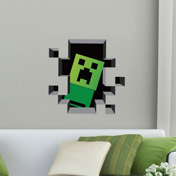 Minecraft DIY 3D Cartoon Latest Children Boys Art Mural Decorations. 93 best Products images on Pinterest   Wall stickers for kids