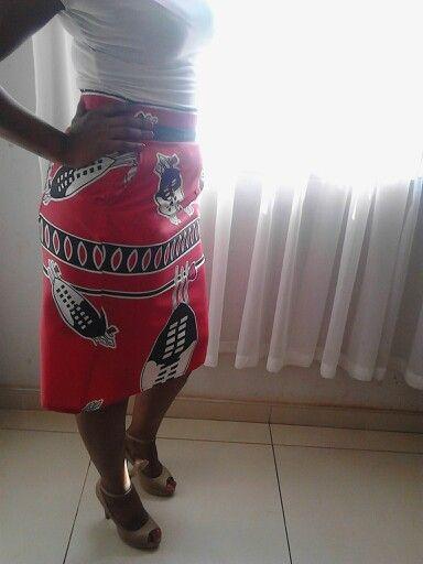 Seswati fabric pencil skirt