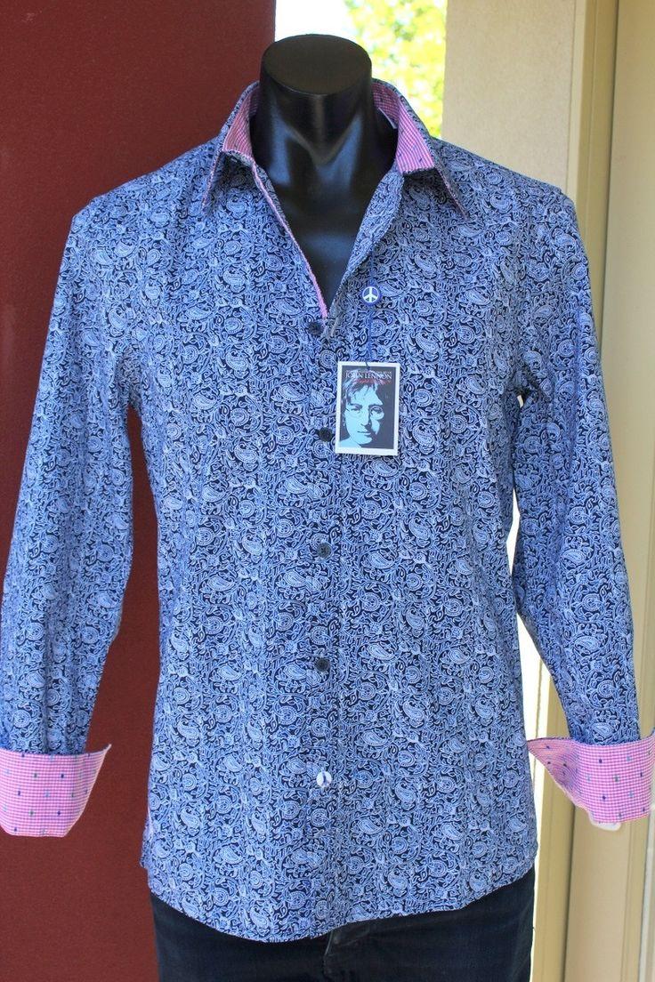 english laundry - John Lennon Octopus's Garden Paisley Shirt