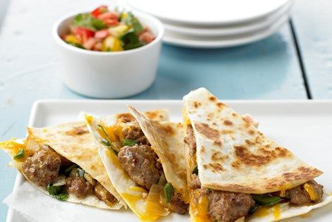 Spicy Pork Quesadillas recipe. Quick and tasty recipe from Kansas Pork Farmers. Find more recipes at www.eatpork.org!