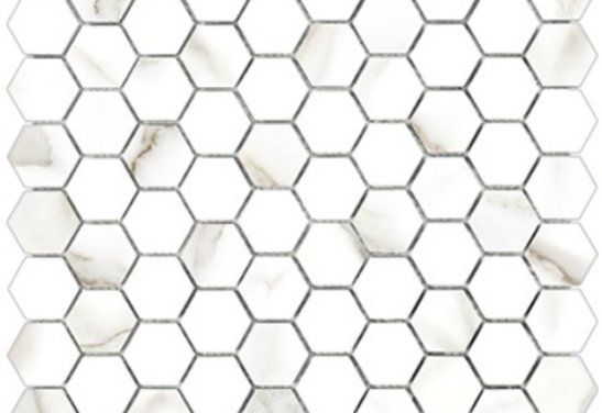 1x1 Mayfair Polished HD  Hexagon Mosaic