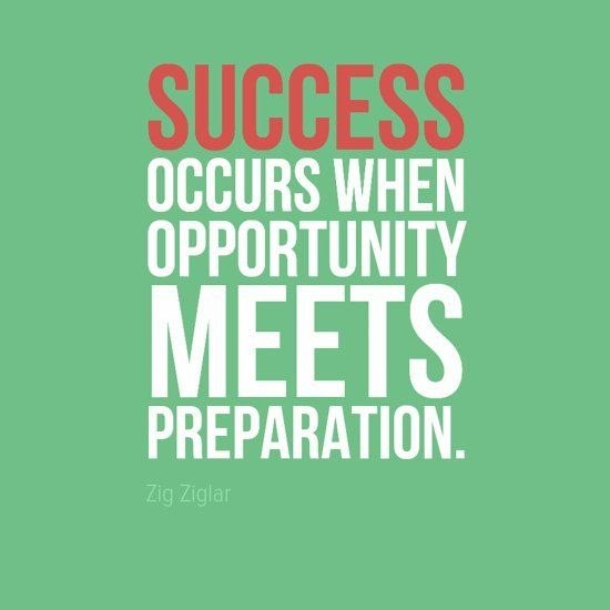 Quote Success Is When Preparation Meets Opportunity: 81 Best Images About Inspiration On Pinterest