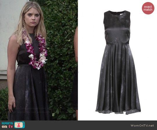 Hanna's black funeral dress on Pretty Little Liars.  Outfit Details: http://wornontv.net/43221/ #PLL