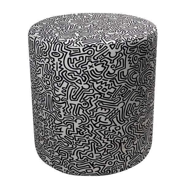 eu.Fab.com | I:Pop Pouf Cover Keith (Keith Haring-inspired)