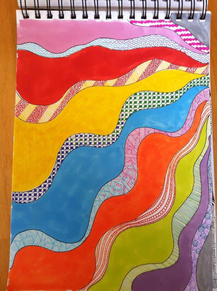 Färgglad zentangle