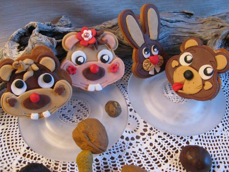 Biscotti animali del bosco in pasta di zucchero Omar Busi
