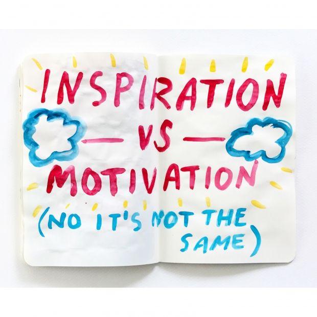 INSPIRATION VS MOTIVATION | 2018 #sketchbook #sketchaday