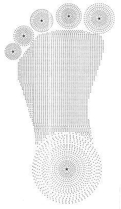 Tapete Pé em Crochê com Gráfico   www.crocheonline.com.br
