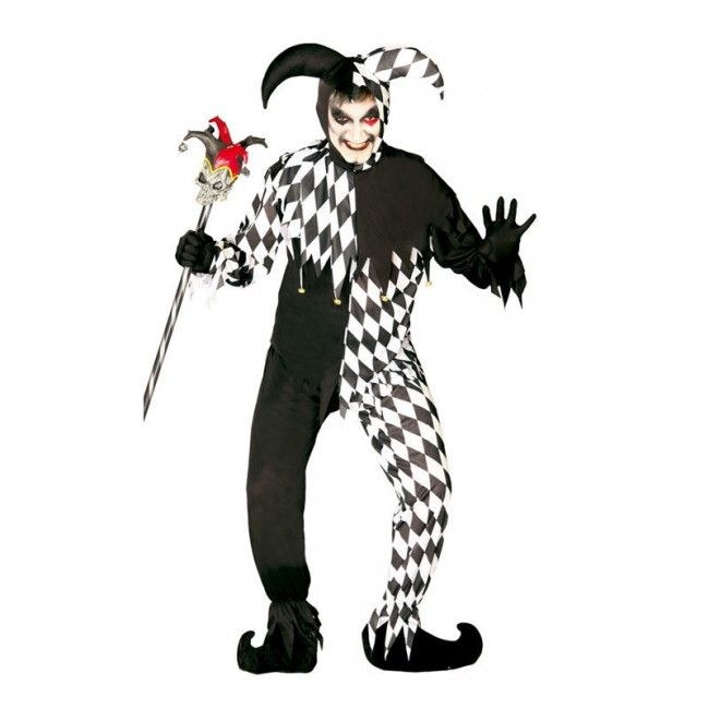 Disfraz de Joker Negro para hombre #disfraces  #halloween #killerclown