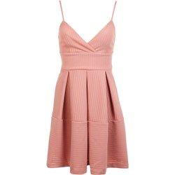 Pink Texture Babydoll Dress