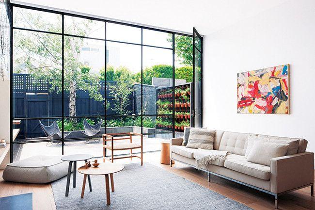 un salon ouvert sur le jardin for the home pinterest salons ouverts ouvert et le jardin. Black Bedroom Furniture Sets. Home Design Ideas