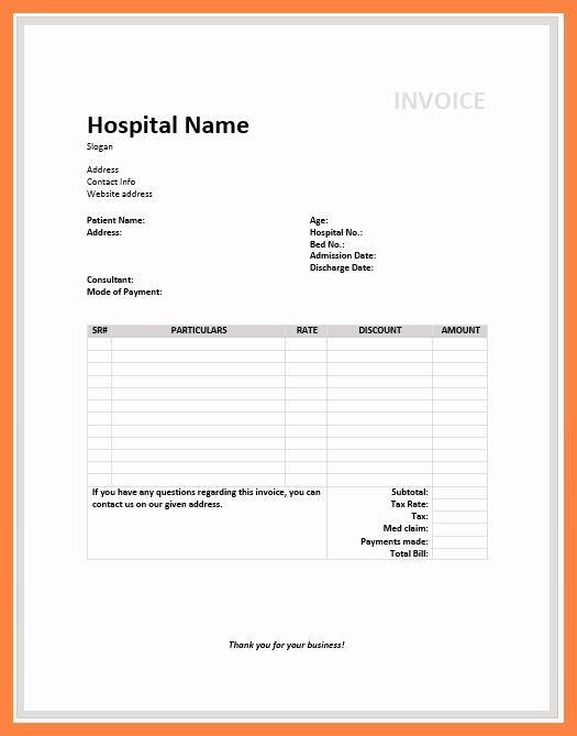 Free Billing Statement Template Beautiful 8 Medical Billing