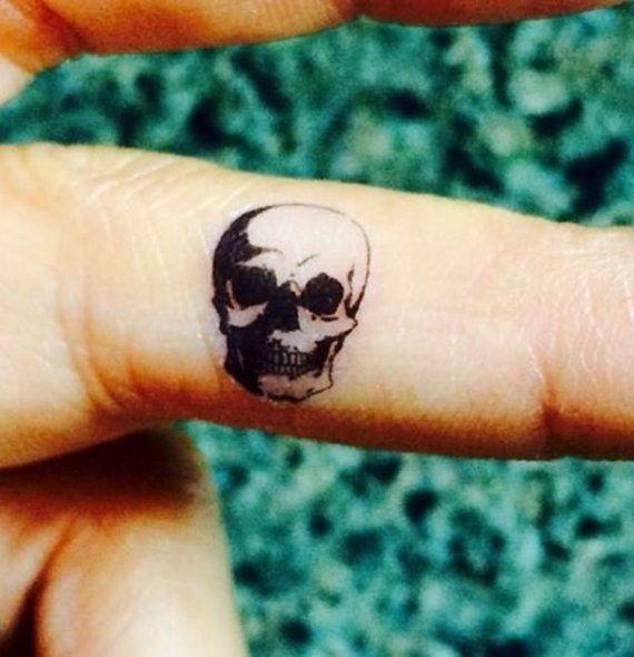 Tiny skull tattoo #2