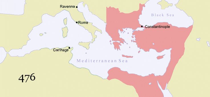 Historians generally refer to the Eastern Roman Empire after 476 as the Byzantine Empire. But this is an arbitrary distinction invented for the convenience of historians. People in the Byzantine Empire continued to think of themselves as Romans, and their empire as the Roman Empire, for centuries after 476. The Byzantine Empire would endure as a Christian empire for another 1000 years until it was finally overrun by the Ottomans in 1453.