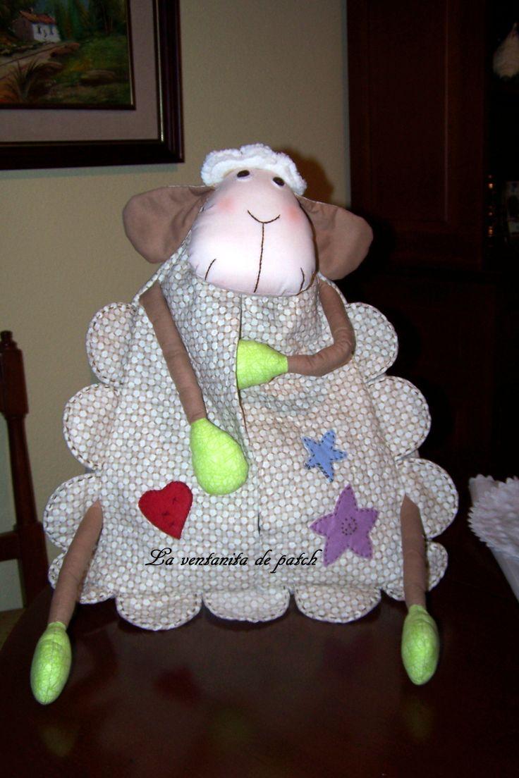 ovejita guarda pañales