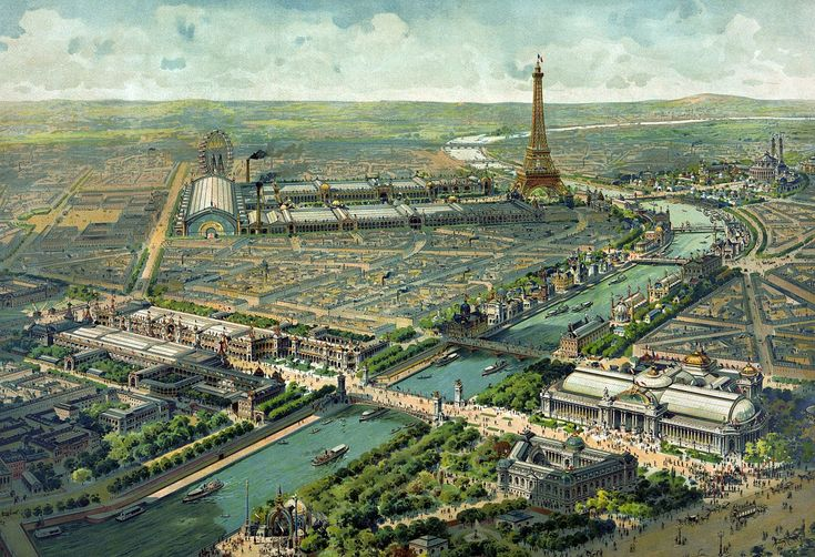 Aerial view of the 1900 World Exhibition, Paris