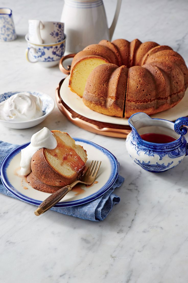 Yogurt Pound Cake with Pomegranate Syrup Recipe